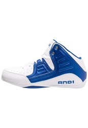 And 1 And1 Rocket 4 Basketball Shoes Marine Blue White Dark Blue