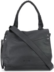 Elizabeth And James Flap Closure Tote Black