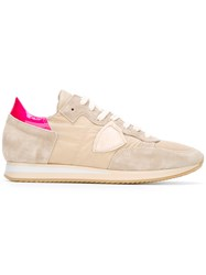 Philippe Model Lace Up Sneakers Nude Neutrals