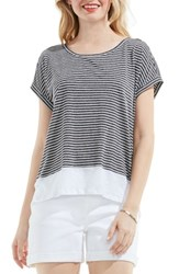 Vince Camuto Women's Two By Studio Stripe Colorblock Tee