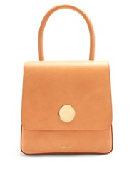 Mansur Gavriel Posternak Leather Top Handle Bag Light Tan