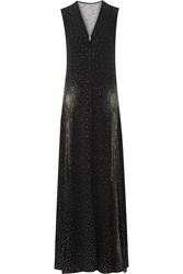 Marc Jacobs Studded Crepe Gown Black