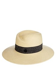 Maison Michel Virginie Straw Hat Cream