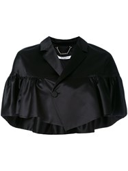 Givenchy Cape Style Jacket Women Silk Viscose 38 Black