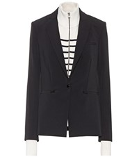 Veronica Beard Scuba Blazer With Detachable Dickey Black
