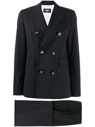 Dsquared2 Double Breasted Trouser Suit Black
