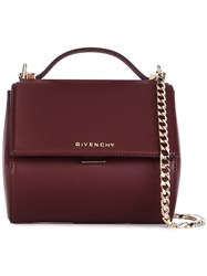 Givenchy Mini 'Pandora Box' Shoulder Bag Red