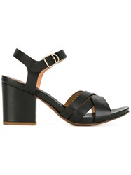 Buttero Block Heel Sandals Black
