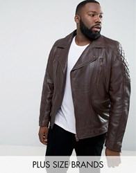 Barney's Barneys Plus Leather Biker Jacket Brown