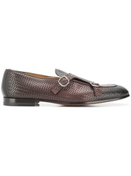 Doucal's Woven Monk Shoes Brown