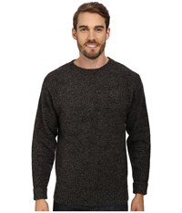 Pendleton Shetland Crew Sweater Charcoal Mix Men's Clothing Gray