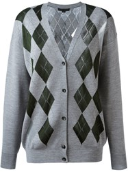 Alexander Wang Argyle Pattern Cardigan Grey