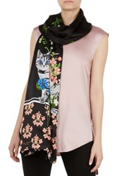 Ted Baker London Florence Long Silk Scarf Black