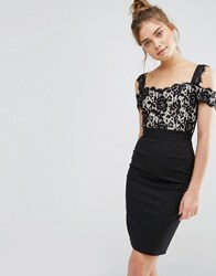 Paper Dolls 2 In 1 Lace Pencil Dress Black Nude