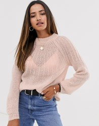 Mango Soft Touch Sweater In Pink