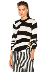 Ann Demeulemeester Knit Sweater In Black Stripes White Black Stripes White