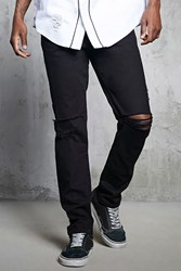 Forever 21 Slim Fit Ripped Knee Jeans