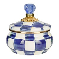 Mackenzie Childs Royal Check Squashed Pot