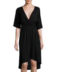 Lamade Zoe Dolman Sleeve High Low Dress Black