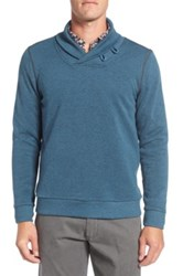 Surfside Supply Shawl Collar Terry Pullover Green