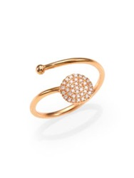 Diane Kordas Diamond And 18K Yellow Gold Circle Wrap Ring