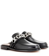 Givenchy Chain Leather Loafers Black