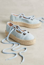 Anthropologie Howsty Aremi Espadrilles Denim Dark
