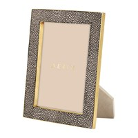 Aerin Chocolate Shagreen Frame 5X7