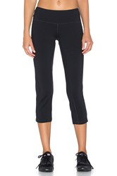 Pink Lotus Elite Performance Crop Legging Black