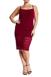 Abs By Allen Schwartz Flocked Lace Sheath Dress Plus Size Pink