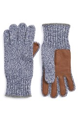 Men's Polo Ralph Lauren Merino Wool Blend Gloves Blue Fleetwood Blue