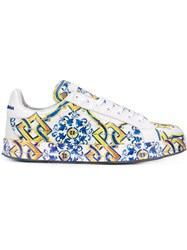 Dolce And Gabbana Tile Print Sneakers Multicolour