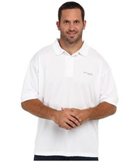 Columbia Perfect Cast Polo Extended White Men's Clothing