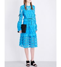 Preen Line Lucy Lace Dress Blue