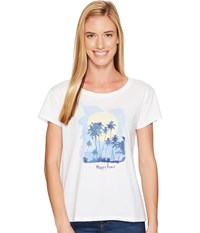 Life Is Good Happy Hour Breezy Tee Cloud White Women's T Shirt