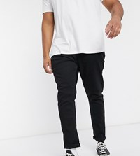 Jacamo Stretch Tapered Fit Jeans In Black Wash