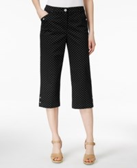 Karen Scott Dot Print Cropped Pants Only At Macy's Deep Black