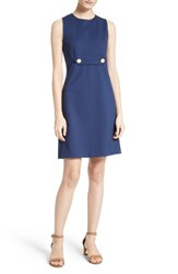 Tory Burch Women's Brynn Button Tab Ponte Fit And Flare Dress