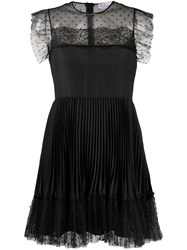 Red Valentino Redvalentino Point D'esprit Pleated Dress 60