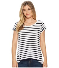 Hatley Kate Tee Solstice Stripes T Shirt White
