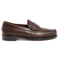 Sebago Brown Leather Boat Shoes With Leather Soles