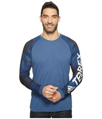 Adidas Trailcross Long Sleeve Shirt Collegiate Navy Men's Long Sleeve Pullover