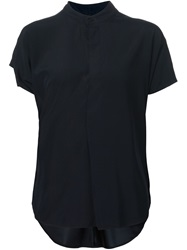 Zero Maria Cornejo Zero Maria Cornejo Band Collar Short Sleeve Shirt Black