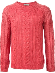 Roberto Collina Cable Knit Sweater Yellow And Orange