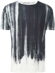 Nudie Jeans Co 'Water Flow' Paint Effect Relaxed Fit T Shirt Black