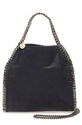 Stella Mccartney 'Mini Falabella Shaggy Deer' Faux Leather Tote Blue Navy