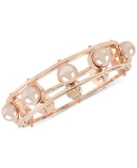 Inc International Concepts M. Haskell For Hinged Bangle Bracelet Only At Macy's Rose Gold