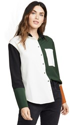 Chinti And Parker Colorblock Shirt Black Multi