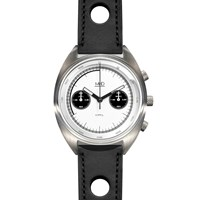 Mhd Watches Cr1 Panda Dial Chronograph Watch With Black Strap Black White Grey