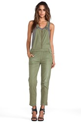Mother Overall Dropout Olive